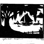 Oyster Boat Silhouette Print