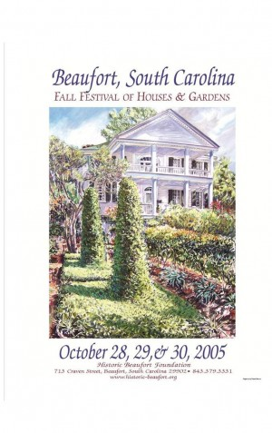 2005 Fall Festival of Houses and Gardens Poster