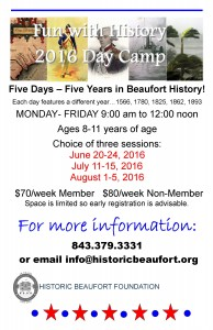 Fun with History 2016 day camp big poster